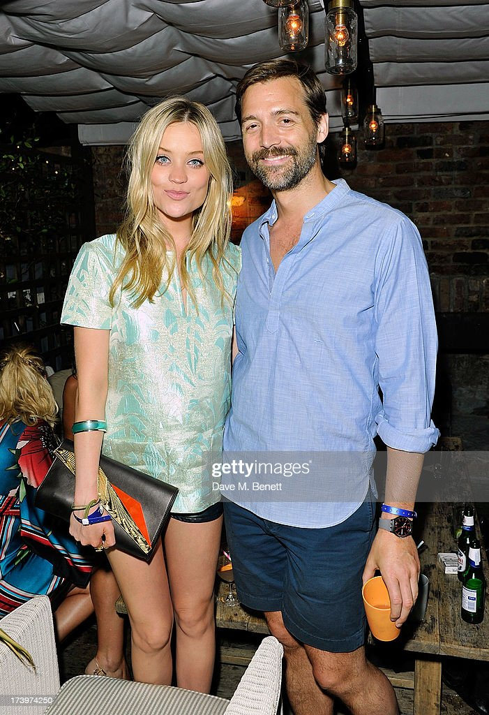 Laura Whitmore and Patrick Grant attends Warner music group summer party in association with Esquire at Shoreditch House on July 18, 2013 in London, England.
