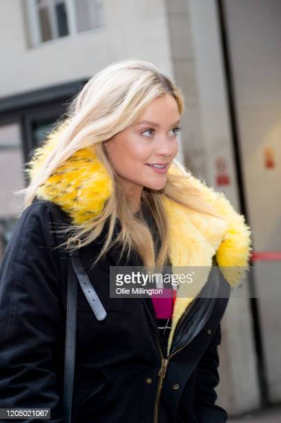 Laura Whitmore arrives at BBC Broadcast House for her BBC Radio 5 Live radio show on February 9 2020 in London United Kingdom