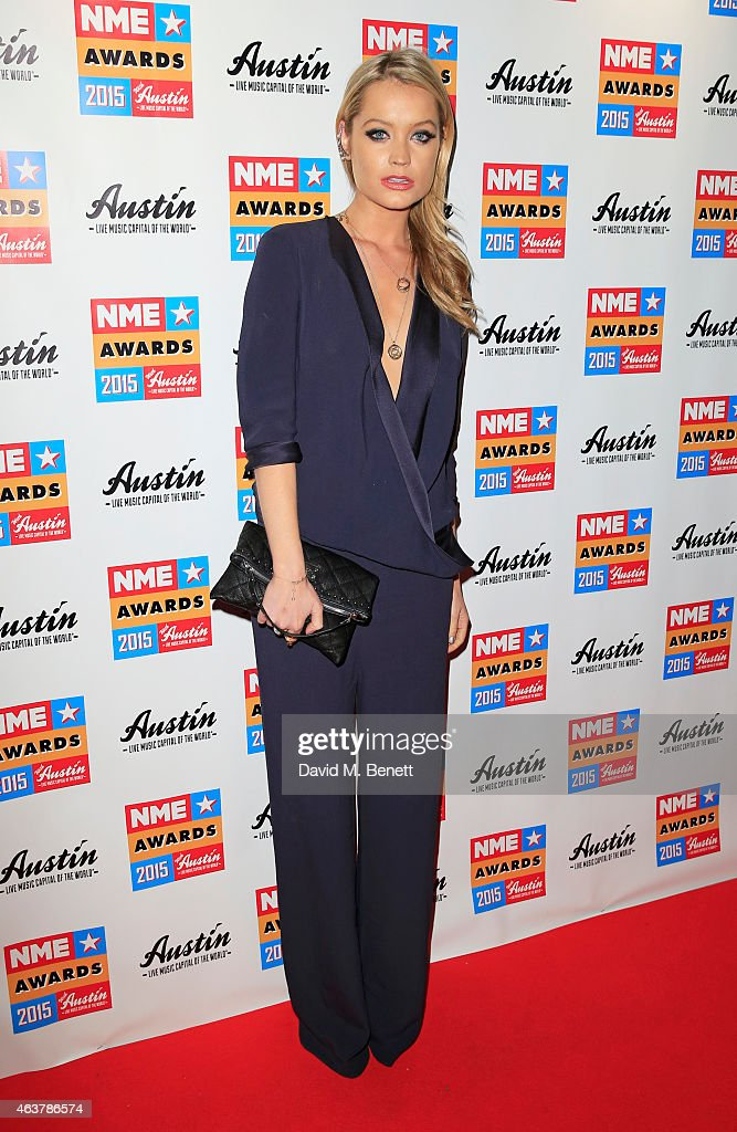 Laura Whitmore arrives at the NME Awards at Brixton Academy on February 18, 2015 in London, England.