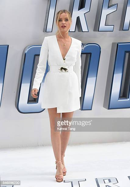 """Laura Whitmore arrives for the UK premiere of """"Star Trek Beyond"""" on July 12, 2016 in London, United Kingdom."""