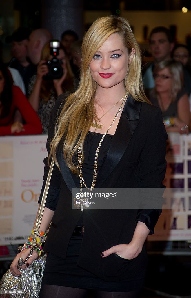 Laura Whitmore attend the European premiere of 'One Day' at Vue Westfield on August 23, 2011 in London, England.