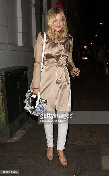 Laura Whitmore attending a private dinner to celebrate the launch of the Millie Mackintosh Spring/Summer 2015 Collection at Ramusake on March 10,...