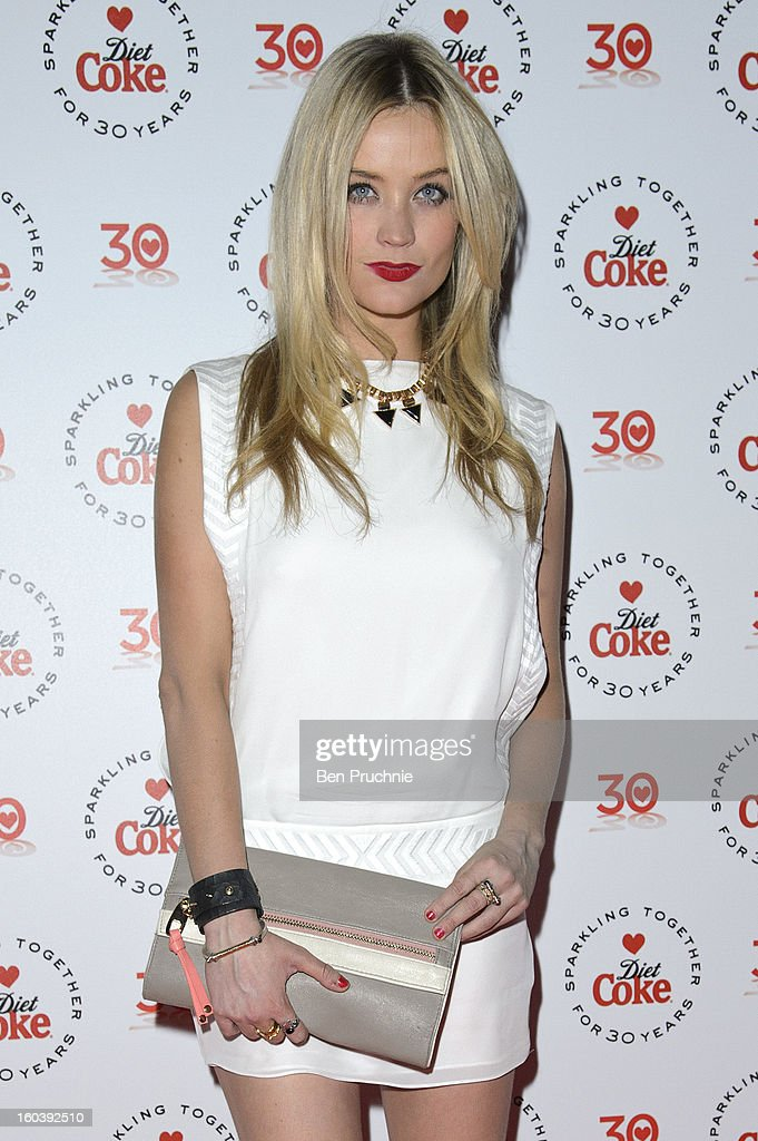 Laura Whitmore attends a party hosted by Diet Coke at Sketch on January 30, 2013 in London, England.