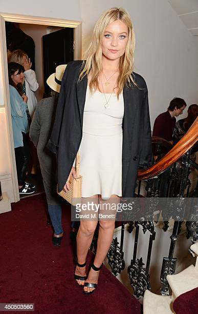 Laura Whitmore attends a private view and launch party for HEIST Gallery in Notting Hill on June 12 2014 in London England