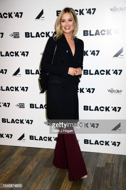 Laura Whitmore attends a special gala screening of Black '47' at Odeon Covent Garden on September 26 2018 in London England