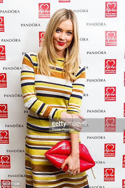 Laura Whitmore attends and hosts the PANDORA BHF afternoon tea on January 28 2015 in London England