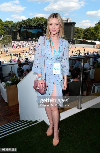 Laura Whitmore attends as Barclaycard present British Summer Time Hyde Park in Hyde Park on July 8 2018 in London England