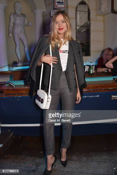 Laura Whitmore attends Bunga Bunga Covent Garden's 1st birthday party on January 31 2018 in London England
