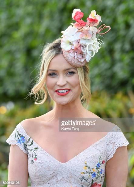 Laura Whitmore attends Ladies Day of Royal Ascot 2017 at Ascot Racecourse on June 22 2017 in Ascot England