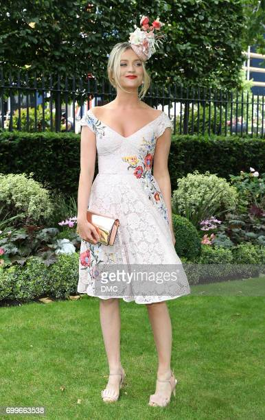 Laura Whitmore attends Royal Ascot 2017 at Ascot Racecourse on June 22 2017 in Ascot England