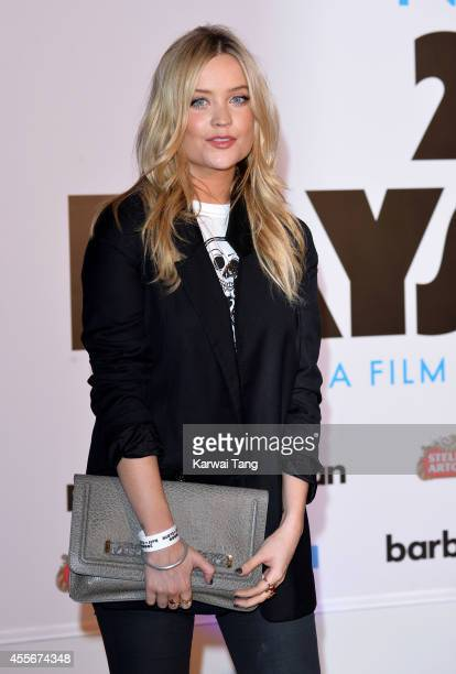 """Laura Whitmore attends the """"20,000 Days on Earth"""" screening at Barbican Centre on September 17, 2014 in London, England."""