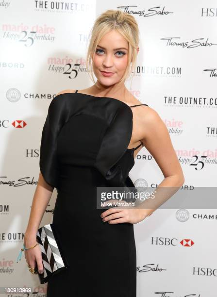 Laura Whitmore attends the 25th birthday party of Marie Claire at Hotel Cafe Royal on September 17 2013 in London England
