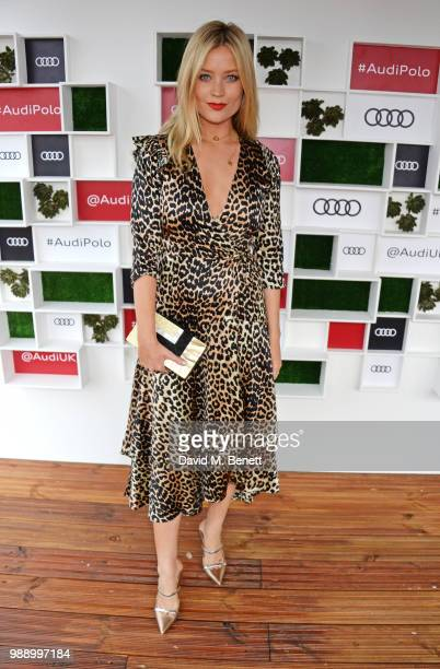 Laura Whitmore attends the Audi Polo Challenge at Coworth Park Polo Club on July 1, 2018 in Ascot, England.