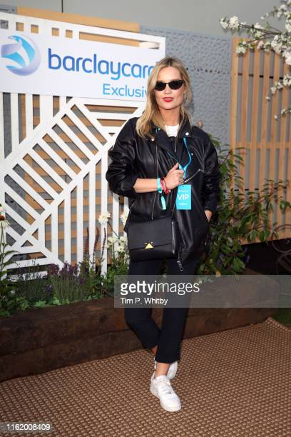 Laura Whitmore attends the Barclaycard Exclusive Area at Barclaycard Presents British Summer Time Hyde Park at Hyde Park on July 14 2019 in London...