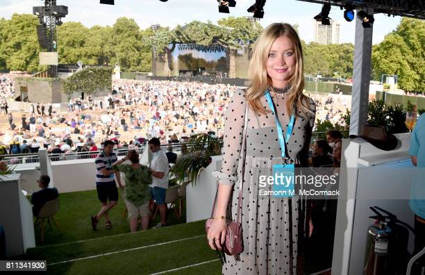 Laura Whitmore attends the Barclaycard Exclusive British Summer Time Festival at Hyde Park on July 9 2017 in London England