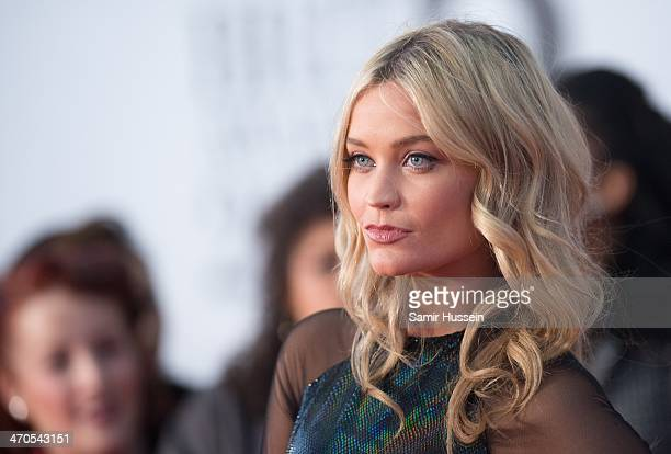 Laura Whitmore attends The BRIT Awards 2014 at 02 Arena on February 19, 2014 in London, England.