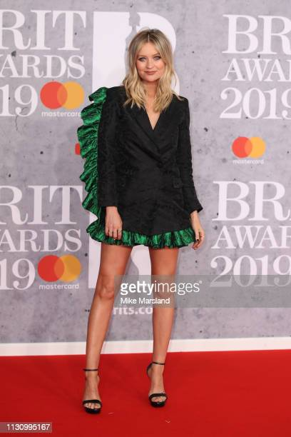 Laura Whitmore attends The BRIT Awards 2019 held at The O2 Arena on February 20 2019 in London England