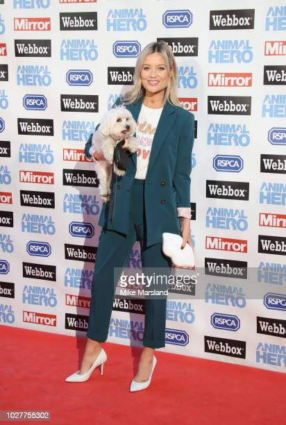 Laura Whitmore attends the Daily Mirror RSPCA Animal Hero awards at Grosvenor House on September 6 2018 in London England