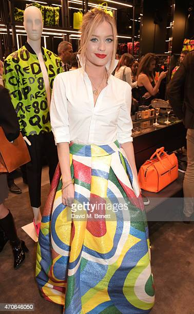 Laura Whitmore attends the DSQUARED2 celebration of their London Flagship Opening on April 21 2015 in London England