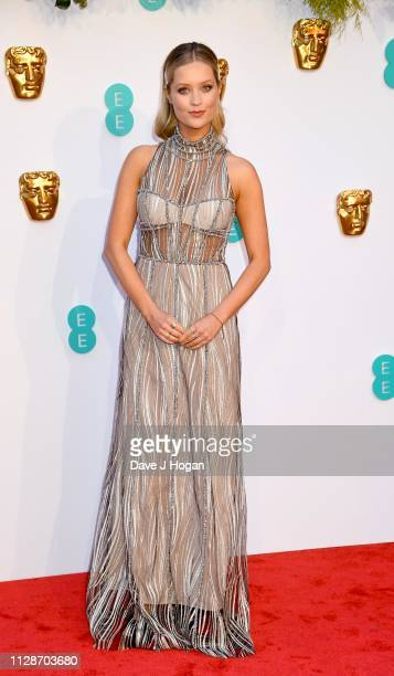 Laura Whitmore attends the EE British Academy Film Awards at Royal Albert Hall on February 10 2019 in London England
