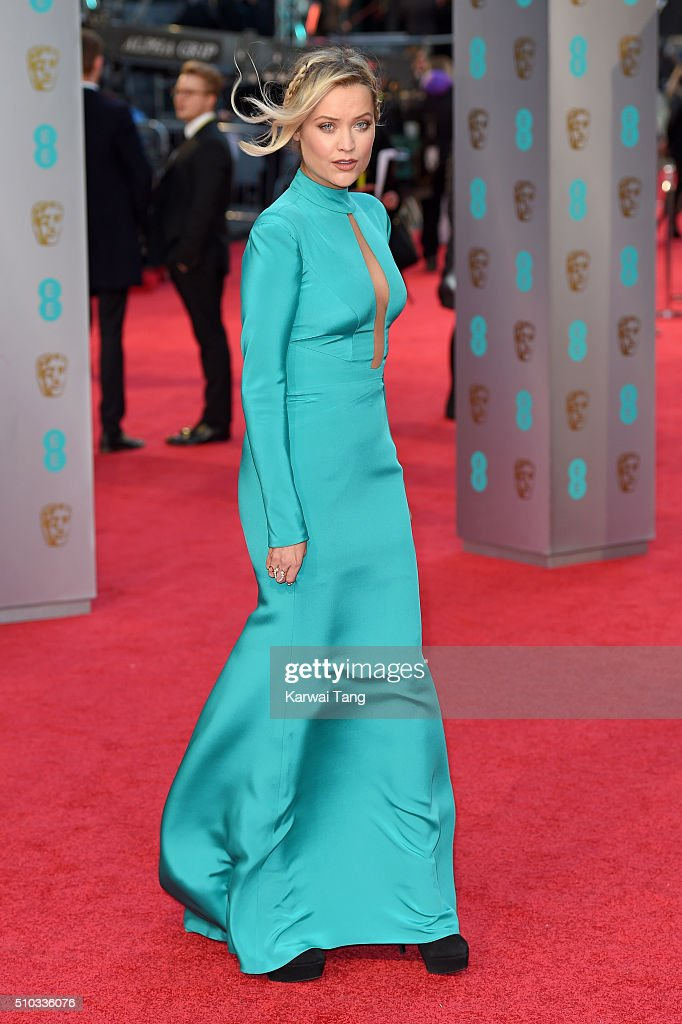 Laura Whitmore attends the EE British Academy Film Awards at The Royal Opera House on February 14, 2016 in London, England.