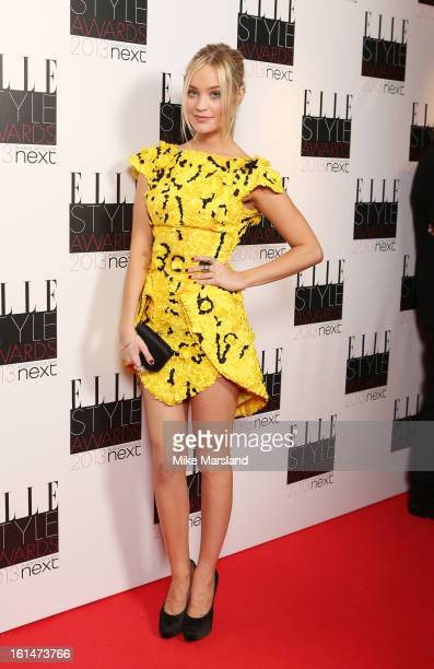 Laura Whitmore attends the Elle Style Awards 2013 at The Savoy Hotel on February 11 2013 in London England