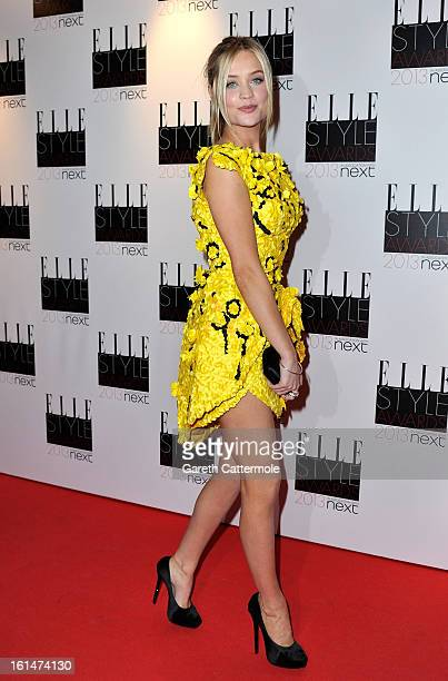 Laura Whitmore attends the Elle Style Awards at The Savoy Hotel on February 11 2013 in London England