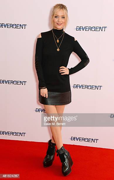 Laura Whitmore attends the European Premiere of 'Divergent' at Odeon Leicester Square on March 30 2014 in London England