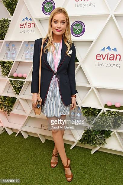 Laura Whitmore attends the evian Live Young suite during Wimbledon 2016 at the All England Tennis and Croquet Club on June 27 2016 in London England