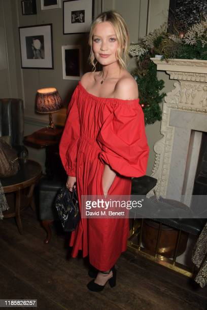 Laura Whitmore attends The Fashion Awards 2019 cocktail reception to celebrate the Nominees and New Wave: Creatives at Soho House on December 1, 2019...