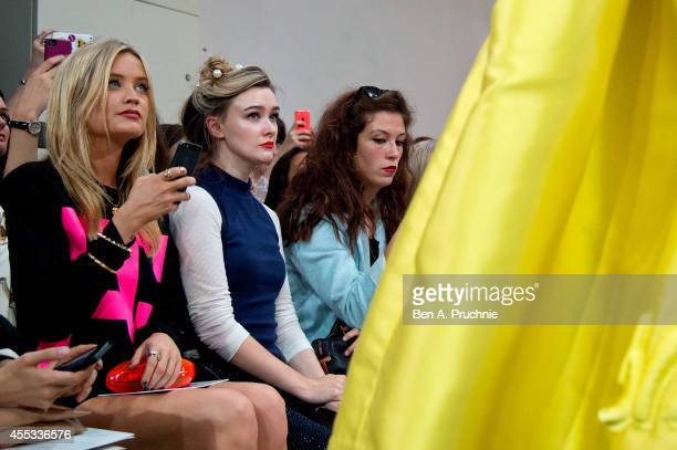 Laura Whitmore attends the Fyodor Golan show during London Fashion Week Spring Summer 2015 on September 12 2014 in London England