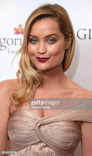 Laura Whitmore attends the Global Gift Gala London on November 19 2016 in London United Kingdom