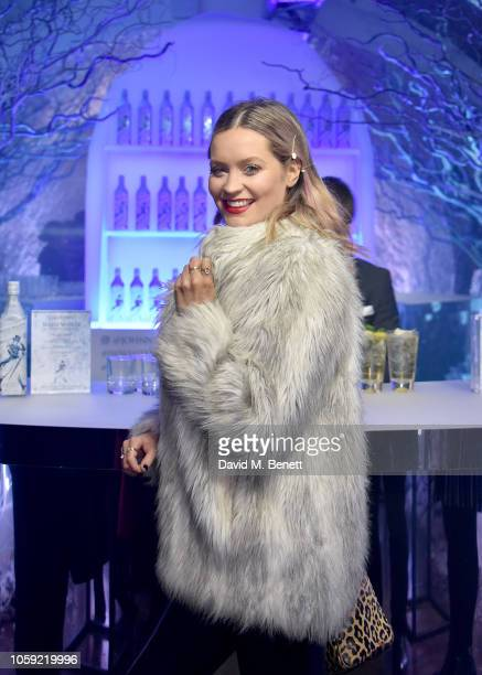 Laura Whitmore attends the Johnnie Walker Frozen Forest popup in Shoreditch to celebrate the launch of the limitededition White Walker by Johnnie...