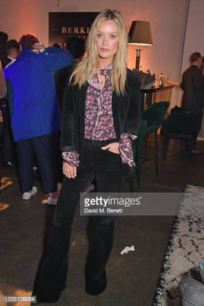 Laura Whitmore attends the launch of Berkley London a bespoke luxury chauffeur concierge founded by John Newman at The Yard Shoreditch on March 4...