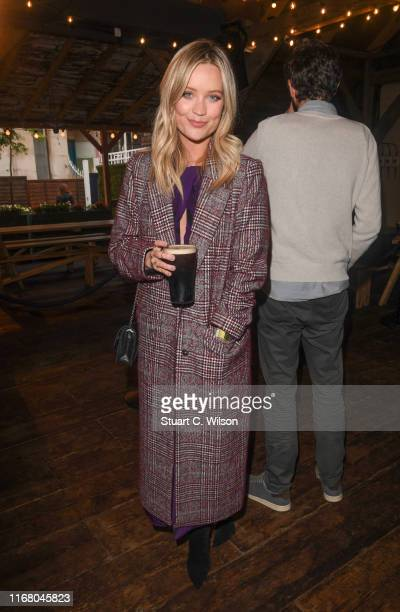 Laura Whitmore attends the launch of Guinness's new 'Liberty Fields' documentary an inspirational film that tells the story of a pioneering team of...