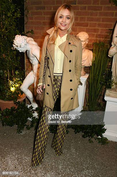 Laura Whitmore attends the launch party hosted by Christopher Bailey and Jefferson Hack to celebrate the Burberry and Dazed cover featuring Jean...