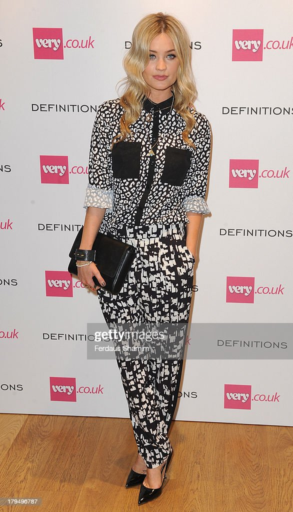 Laura Whitmore attends the launch party of very.co.uk's Definitions range at Somerset House on September 4, 2013 in London, England.
