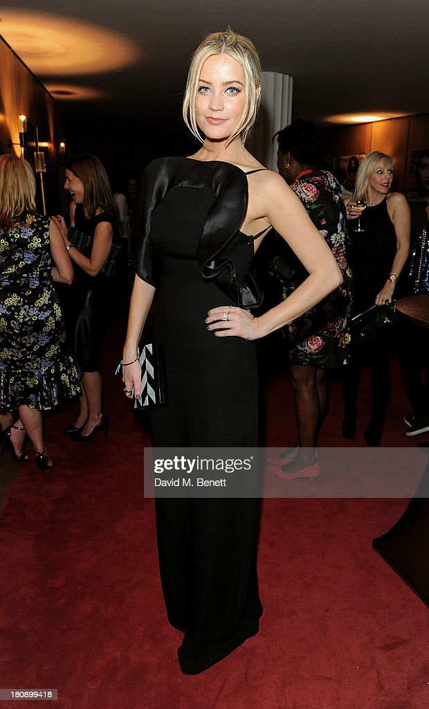 Laura Whitmore attends the Marie Claire 25th birthday celebration featuring Icons of Our Time in association with The Outnet at the Cafe Royal Hotel on September 17, 2013 in London, England.