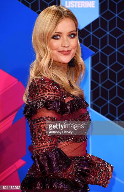Laura Whitmore attends the MTV Europe Music Awards 2016 on November 6 2016 in Rotterdam Netherlands