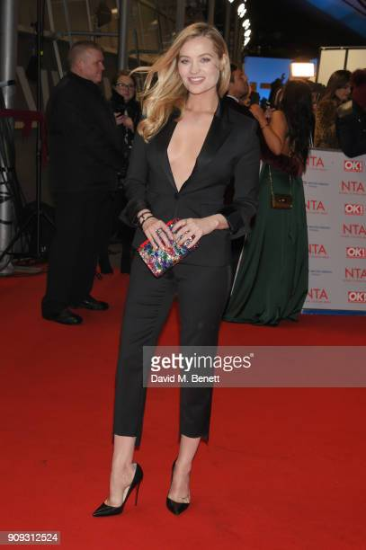 Laura Whitmore attends the National Television Awards 2018 at The O2 Arena on January 23 2018 in London England