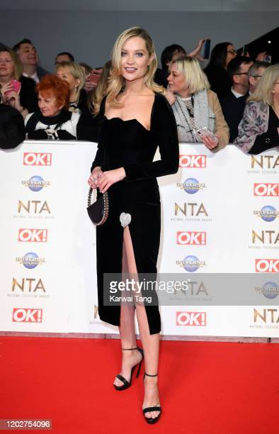 Laura Whitmore attends the National Television Awards 2020 at The O2 Arena on January 28, 2020 in London, England.