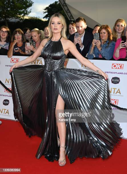 Laura Whitmore attends the National Television Awards 2021 at The O2 Arena on September 09, 2021 in London, England.