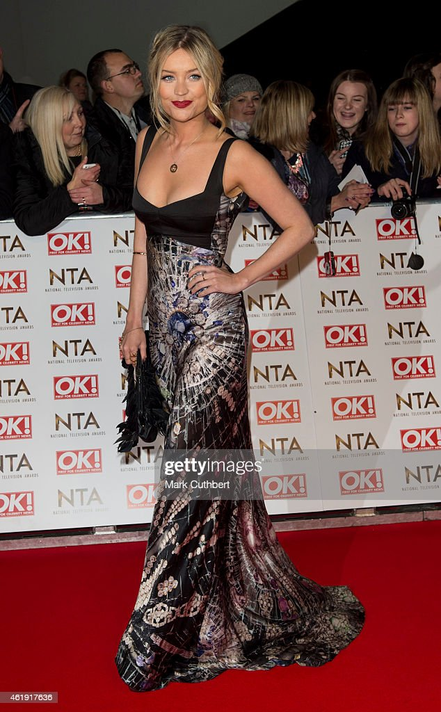 Laura Whitmore attends the National Television Awards at 02 Arena on January 21, 2015 in London, England.