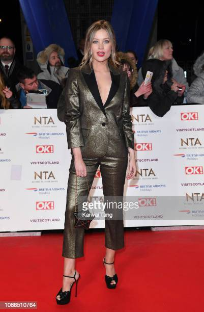 Laura Whitmore attends the National Television Awards held at The O2 Arena on January 22 2019 in London England