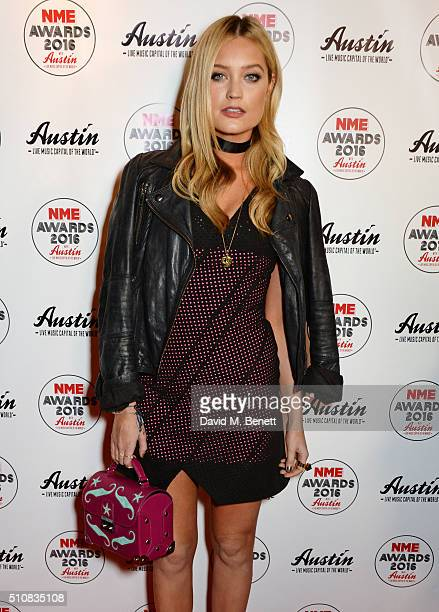Laura Whitmore attends the NME Awards with Austin Texas at the O2 Academy Brixton on February 17 2016 in London England