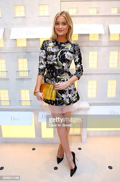 Laura Whitmore attends the opening of the House Of Dior on New Bond Street on June 8 2016 in London England