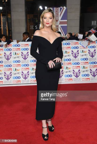 Laura Whitmore attends the Pride Of Britain Awards 2019 at The Grosvenor House Hotel on October 28 2019 in London England