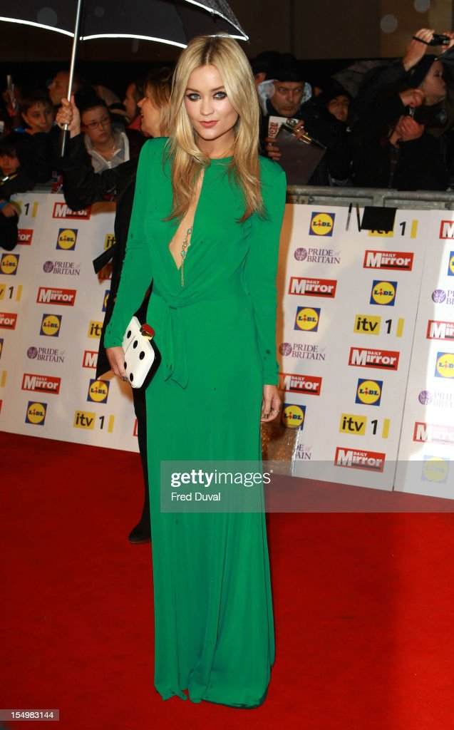 Laura Whitmore attends the Pride Of Britain awards at Grosvenor House, on October 29, 2012 in London, England.