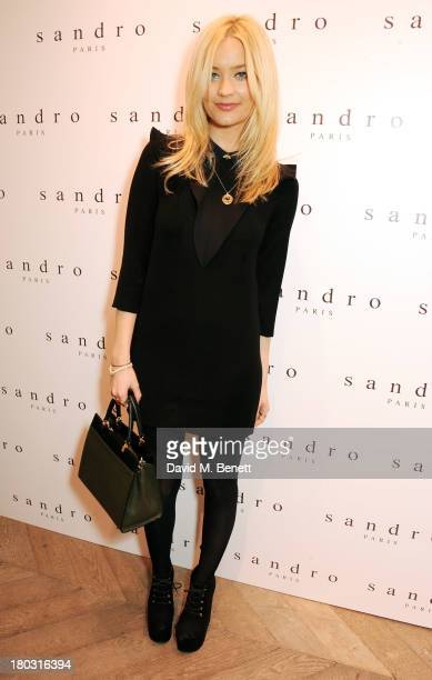 Laura Whitmore attends the Sandro London flagship store launch in Covent Garden on September 11 2013 in London England