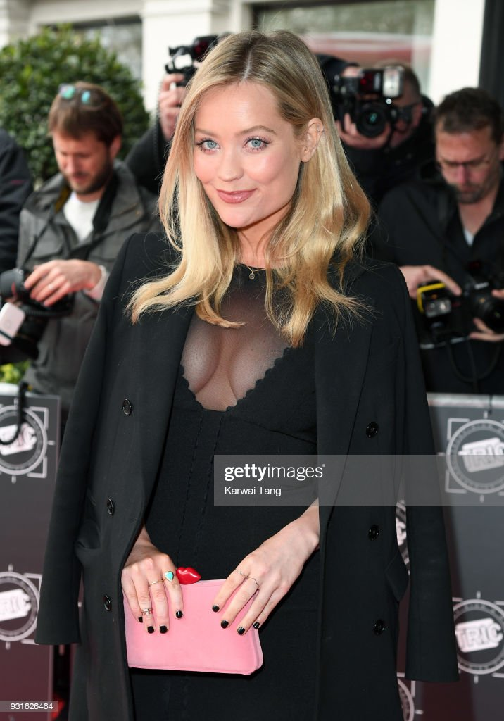 Laura Whitmore attends the TRIC Awards 2018 held at the Grosvenor House Hotel on March 13, 2018 in London, England.